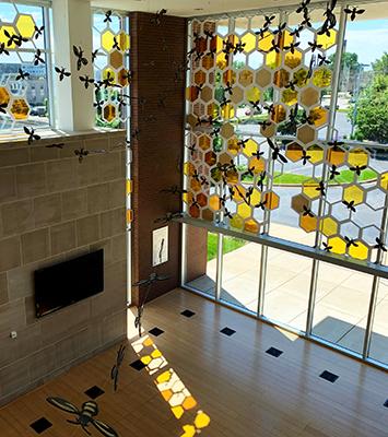 Champaign Public Library Atrium