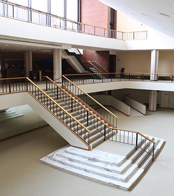 Foellinger Great Hall ramp