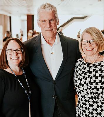 Deborah Frank Feinen, Mayor of the City of Champaign; Mike Ross, Director of Krannert Center; and Diane Wolfe Marlin, Mayor of the City of Urbana