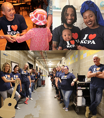 Krannert Center Community in I Heart KCPA t-shirts