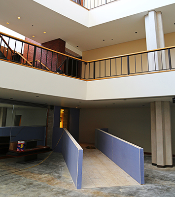 Foellinger Great Hall ramp
