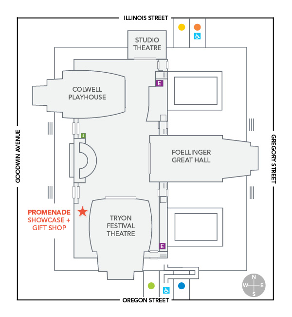 Krannert Center lobby map